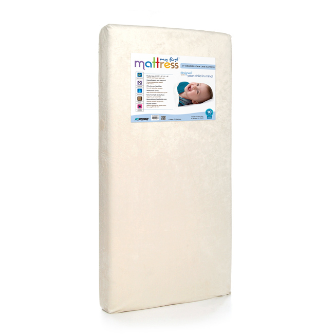 MY FIRST MATTRESS MEMORY FOAM CRIB MATTRESS WITH WATERPROOF COVER